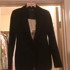 Sheer back blazer